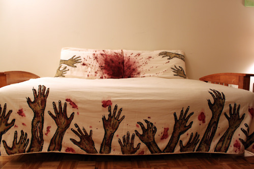 juego de cama zombie