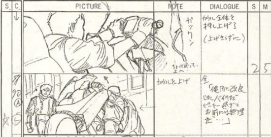 storyboard akira anime 1988 motos
