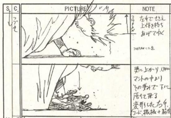 storyboard akira anime 1988 tetsuo