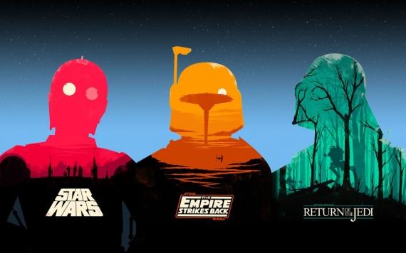 Ilustración minimalista de Star Wars