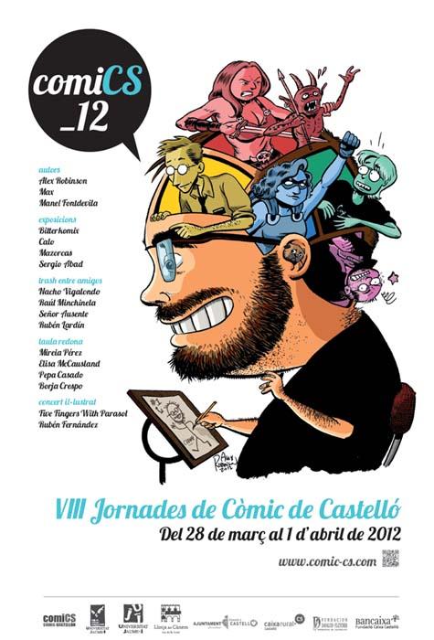 VIII jornadas comic castelló cartel Alex Robinson