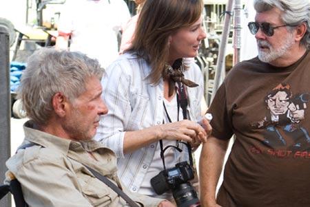 George Lucas con la camiseta de Han disparó primero