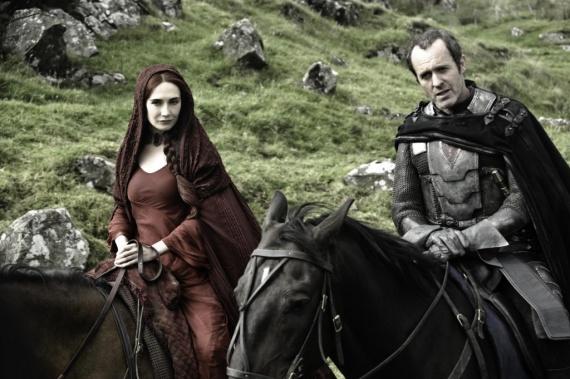 juego de tronos Mellisandre y Stannis Baratheon