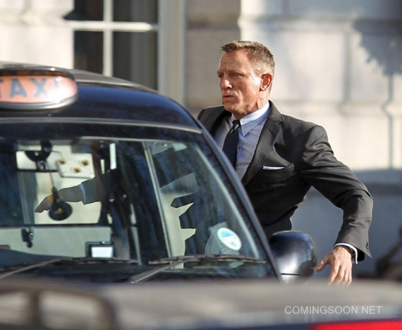 skyfall londres james bond daniel craig coche