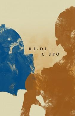 star wars la amenaza fantasmana poster minimalista c3po r2d2