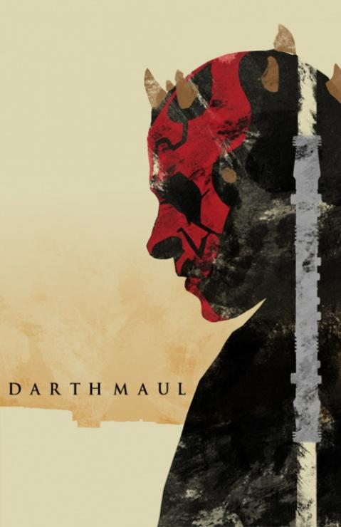 star wars la amenaza fantasmana poster minimalista darth maul