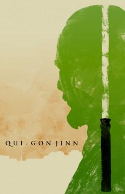 star wars la amenaza fantasmana poster minimalista qui gon jinn