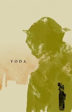 star wars la amenaza fantasmana poster minimalista yoda