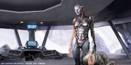 Battlestar Galactica Blood and Chrome concept art