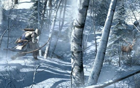 Primeras imagenes oficiales Assassins Creed III Assassin-creed-3-nieve-connor-ciervo