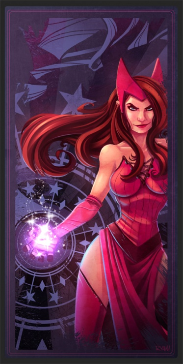 avengers card scarlet witch by frogbillgo d4b0p6k