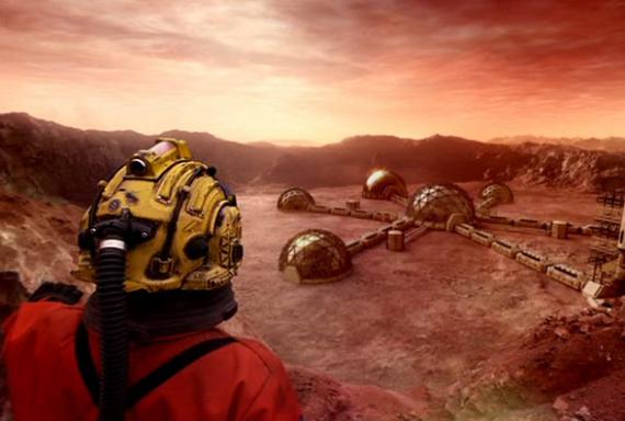 Doctor sobre la superficie marciana
