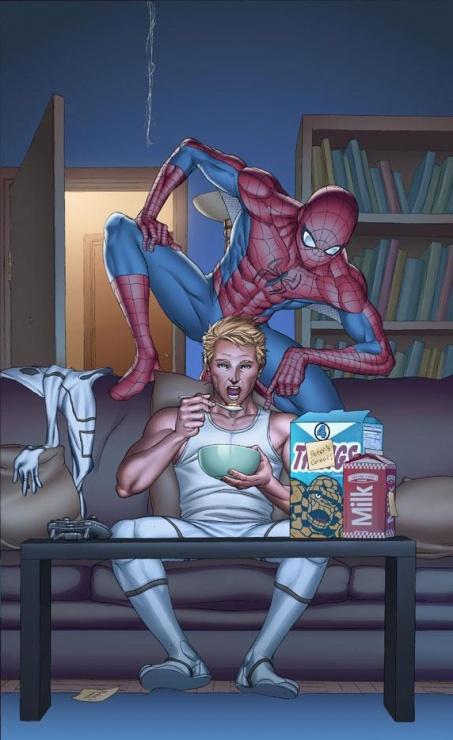 ff 17 portada spiderman jonny storm