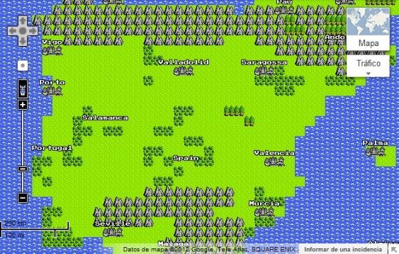 google maps 8 bits spain