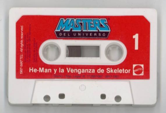 cintas de casettes de he man