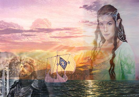 Arwen Aragorn Valinor