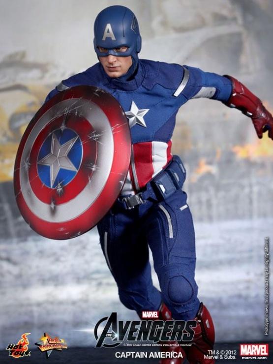 capitan america hot toys vengadores escudo
