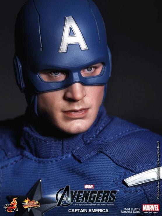 capitan america hot toys vengadores rostro