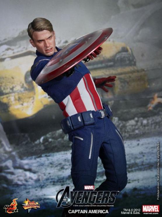 capitan america vengadores hot toys chris evans