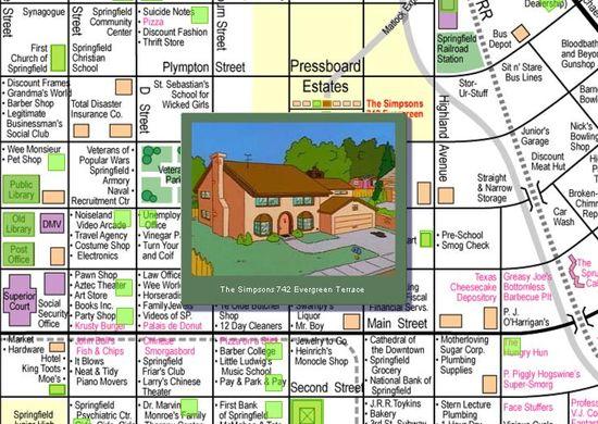 cartografia springfield