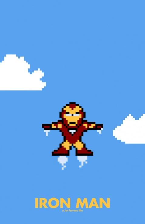 iron man 8 bits
