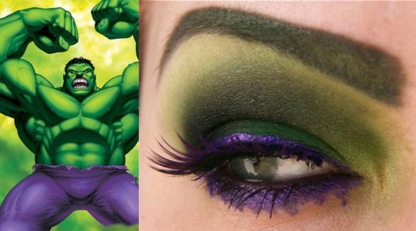 maquillaje ojos hulk