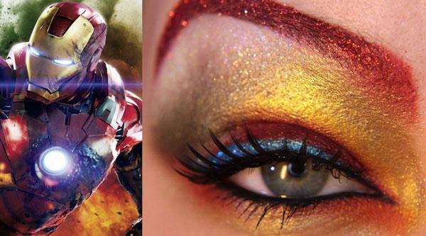 maquillaje ojos iron man