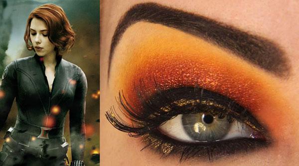 maquillaje ojos viuda negra