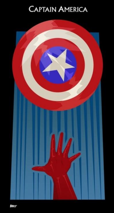 poster minimalista capitan america