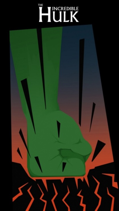 poster minimalista hulk