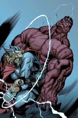 red hulk vs thor