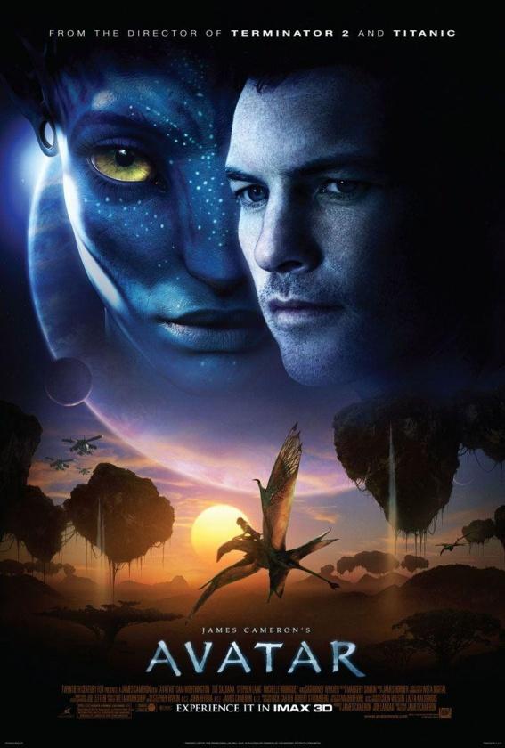 Póster de cine de la primera parte de Avatar