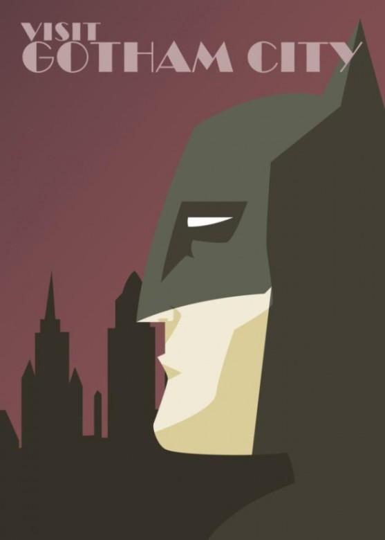 DC Comics Superheroe Travel Posters 1