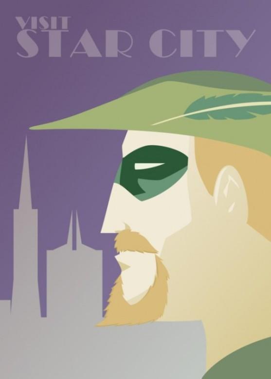 DC Comics Superheroe Travel Posters 4