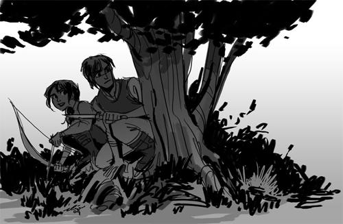 En Llamas. Katniss y Peeta