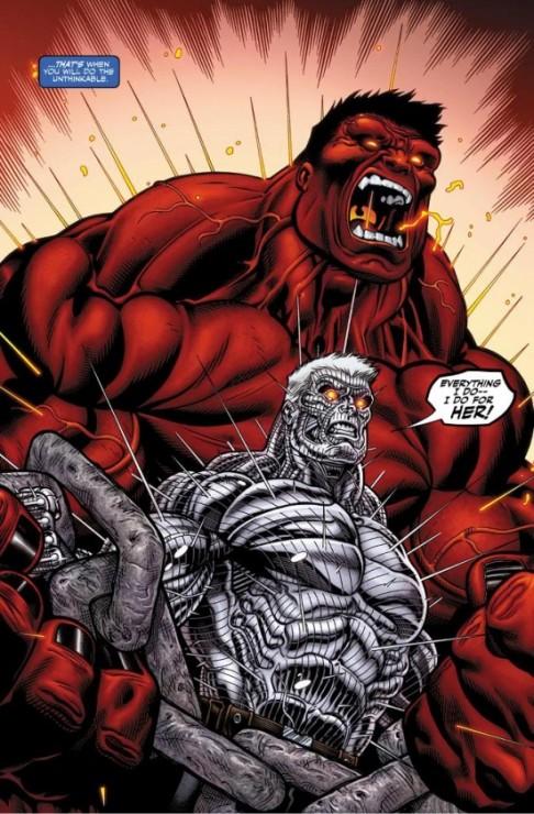 Red Hulk contra Cable en Avengers X-Sanction