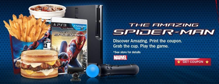Campaña de Hardee´s de Amazing Spiderman
