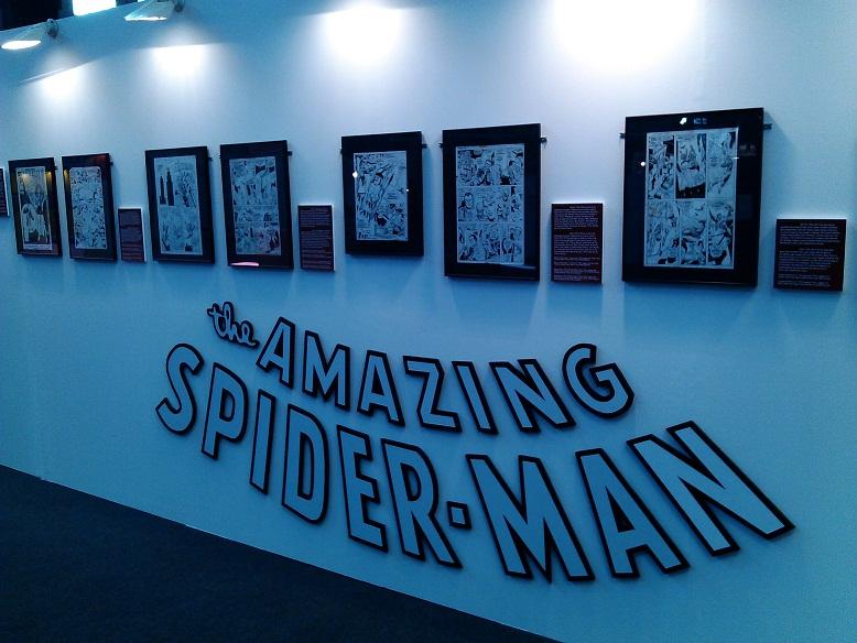 exposicion spider man salon comic