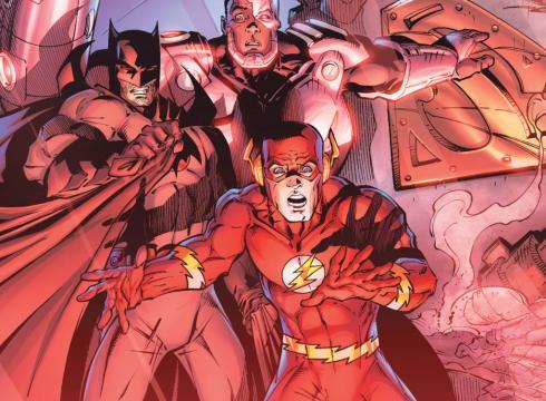 flashpoint flash batman ciborg superman
