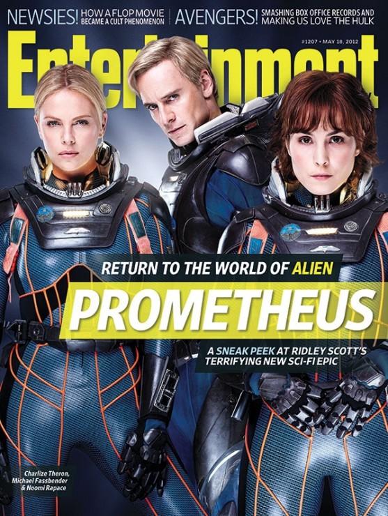 prometheus entertainment weekly magazine