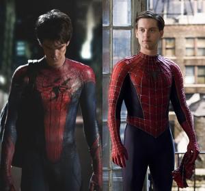 Andrew Garfield y Tobey Maguire como Spider-man
