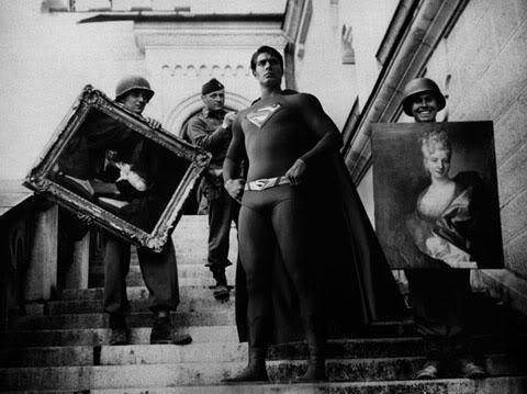 Superman -recuperando- obras- de arte -en- la -segunda -guerra -mundial