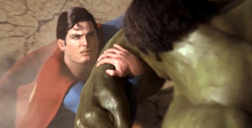Superman-Hulk -luchando