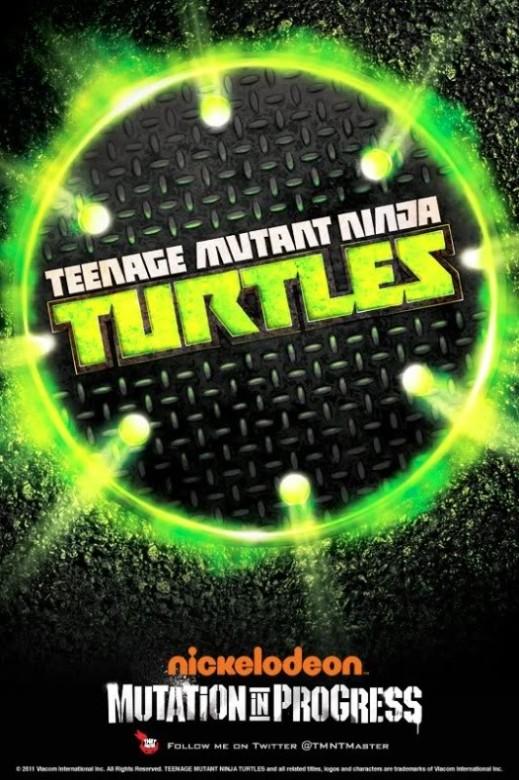"Poster promocional de la nueva serie de ""Tortugas Ninja"""