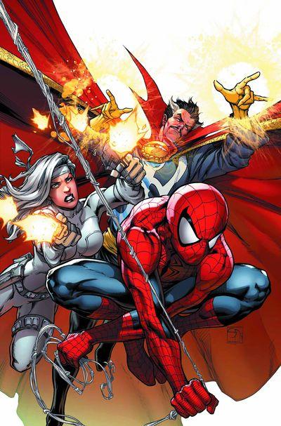 Portada del Avenging Spider-Man 8