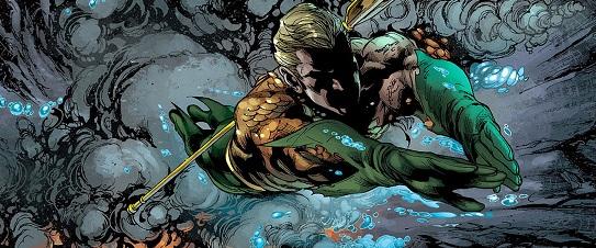 Aquaman nuevos 52 nadando