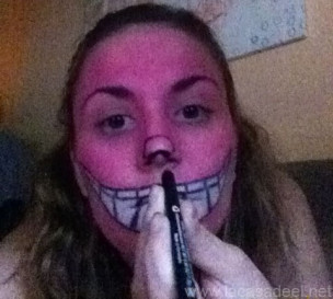 Maquillaje Cosplay El Gato De Cheshire 14