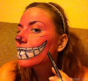 Maquillaje Cosplay El Gato De Cheshire 15