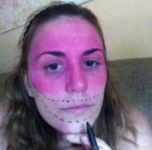 Maquillaje Cosplay El Gato De Cheshire 4