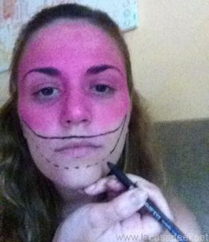 Maquillaje Cosplay El Gato De Cheshire 5